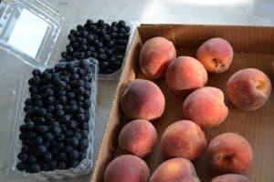 Aronia Berries and Peaches