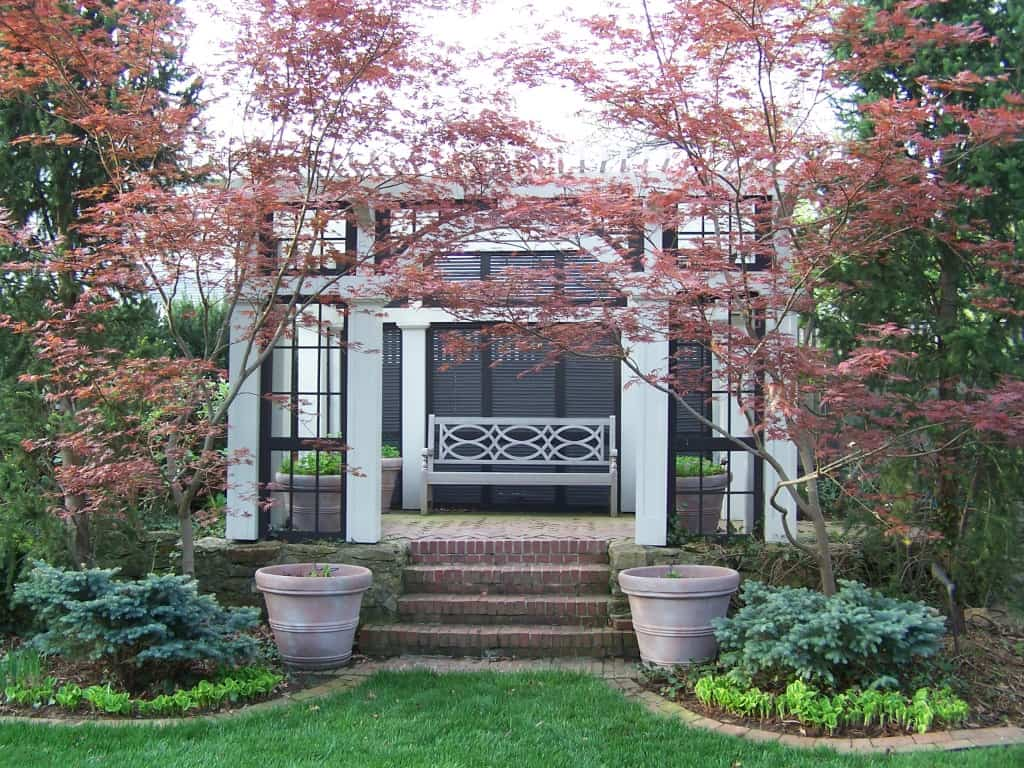 A focal point in a Japanese shade garden.