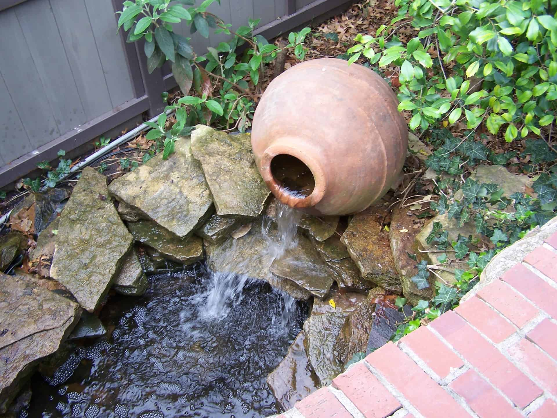 Small fountain.