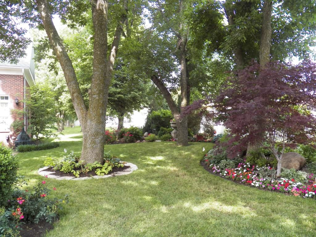 A well maintained landscape, with annuals
