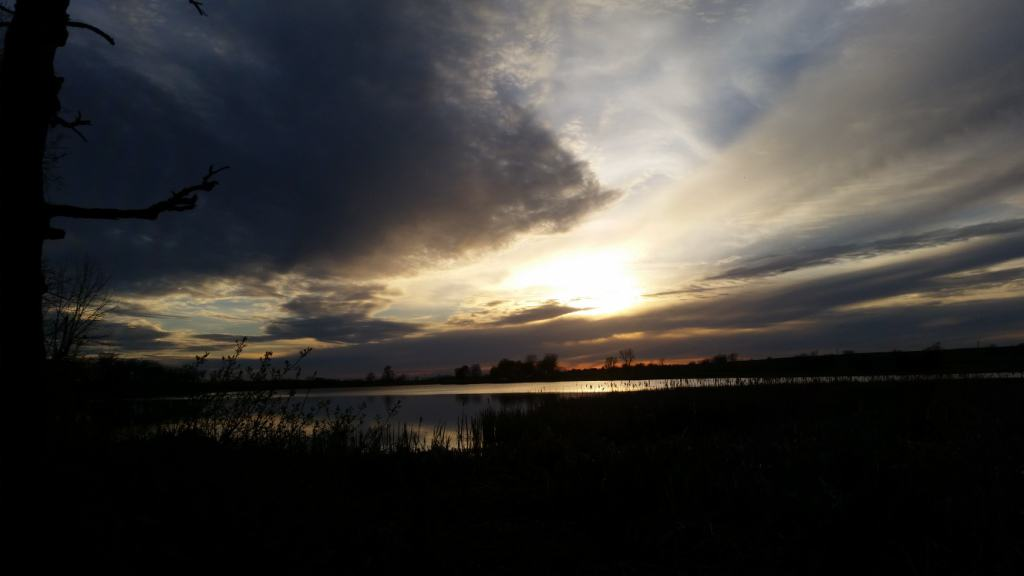 Atchison County Lake at Sunset