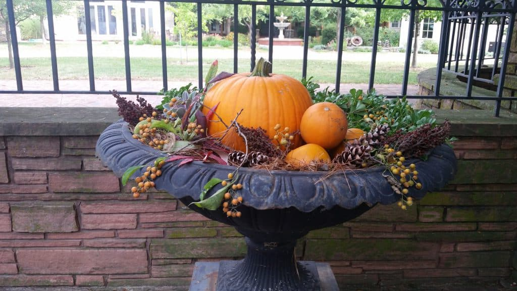 An autumn container