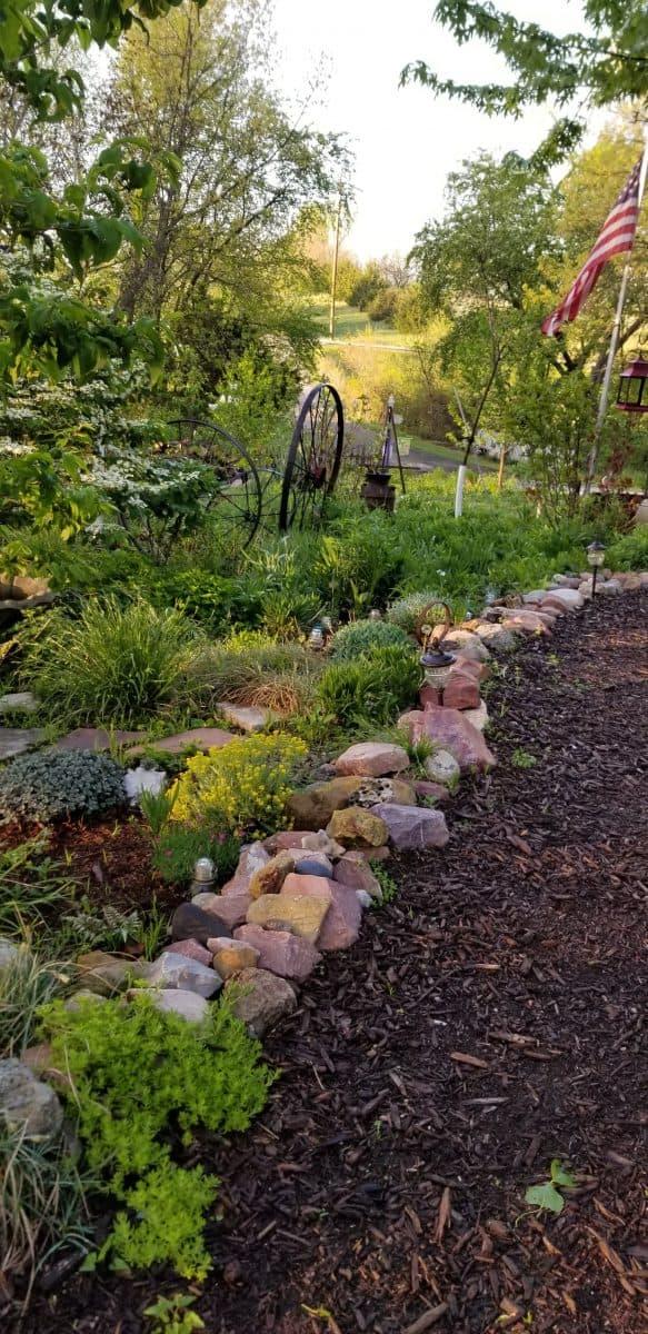 the entry garden path